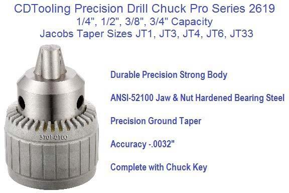 """PRO-SERIES 1//64-1//4/"""" JT1 DRILL CHUCK 3701-0100"""