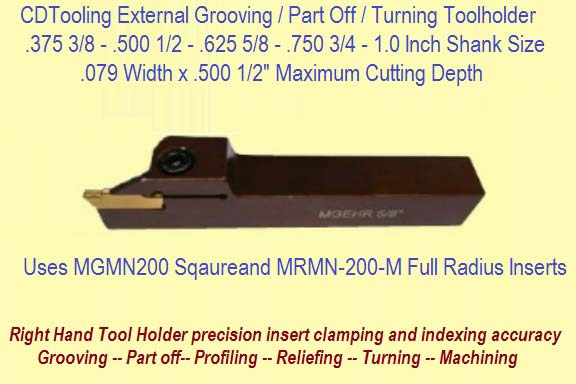 MGEHR 2525-3 Grooving Tool holder Grooving Tool holder for MG300 Inserts