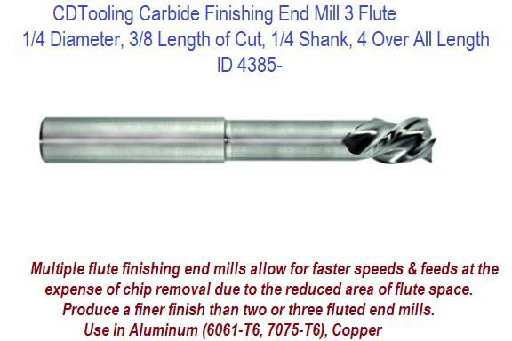 "1-1//2/"" LOC 4 Flute Single End AlTiN Carbide End Mill USA #56642 3//4/"" Diameter"