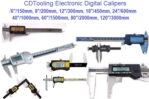4,6,8,12,20,24,36,48,60,80,120 Inch, Metric Electronic Vernier Caliper Section