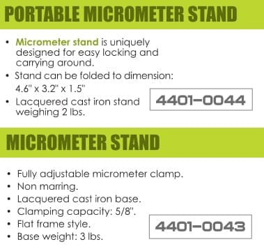 Precision Tool Stands for Micrometers and Verniers  ID 2725-
