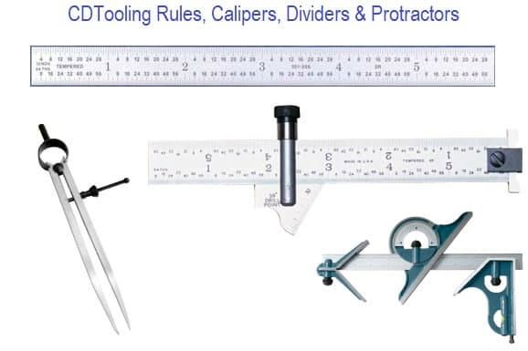 Rules, Calipers, Dividers and Protractors
