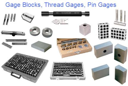 Gages: Block, Pin, Plug, Thread
