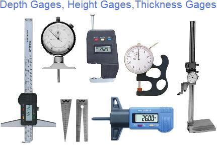 Gages, Bore, Depth, Height, Hole, Thickness