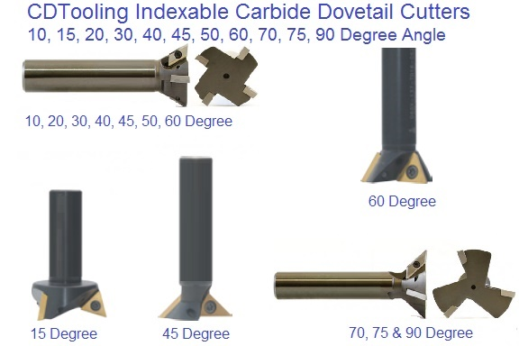 Dovetail Cutters Indexable Carbide