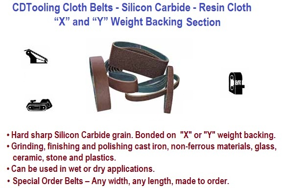 Abrasive Cloth Belts -Silicon Carbide - Grinding - Sanding