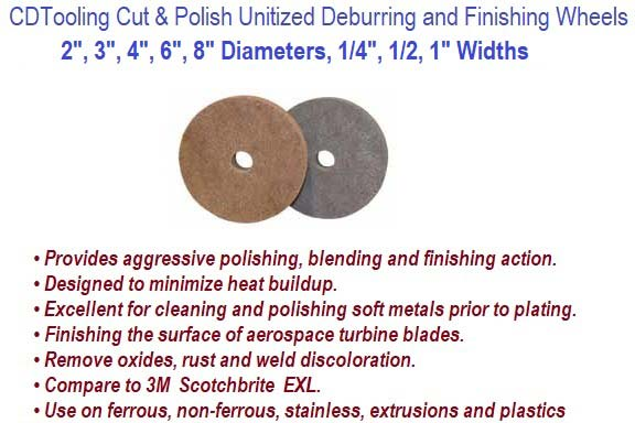 Unitized Deburring and Finishing Wheels Wheels