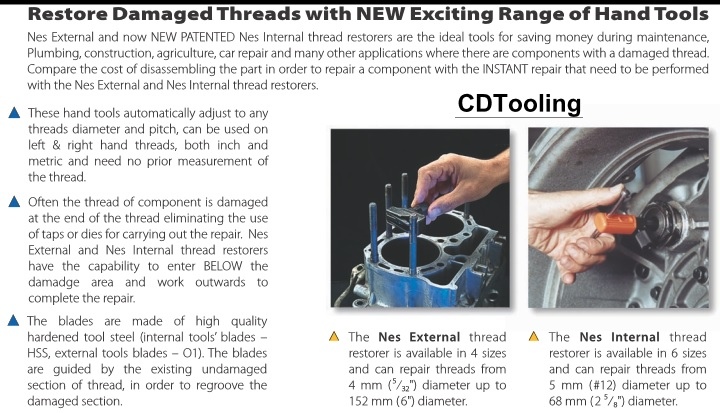 thread repair information