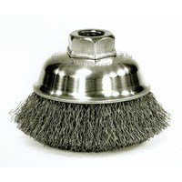 3-1/2 inch Crimped Wire Cup Brush, .014 inch Steel Fill, M10x1.25 Nut ID: MK5113175