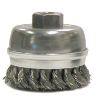 1 3/4 inch Crimped Wire Utility Cup Brush, .006 inch Steel Fill, 1/4 inch Stem ID: MK5114300