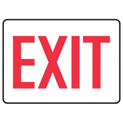 Exit and Entry Signs