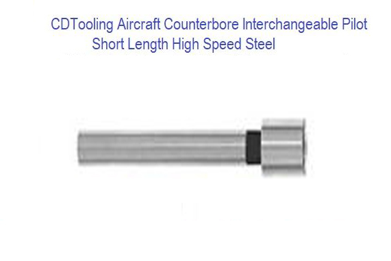 1/4 Dia x 3/32 Pilot Dia x 1/4 Shank Dia x 2 3/8 OAL Interchangeable Pilot for Counterbore - Aircraft Short Length HSS - ID: 1707-20201