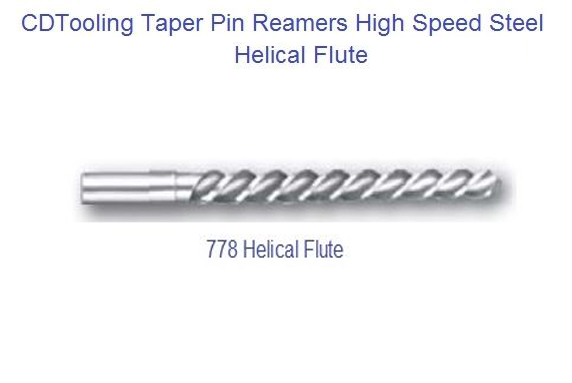 Taper Pin Reamer- Helical Flute ~  Size #: 0  ~  Dia. Of Shank:  11/64  ~  Dia. Small End: 0.1287  ~  Dia. Large End: 0.1638  ~  OAL: 2 15/16  ~  Flute Length: 1 11/16 - ID: 1713-27977