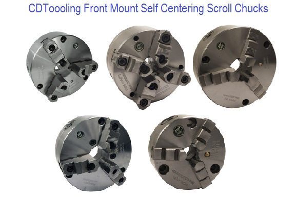 Front Mount Self Centering Scroll Chucks