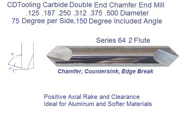 5//8 carbide Spot Drill 150 Degree 2 Flute