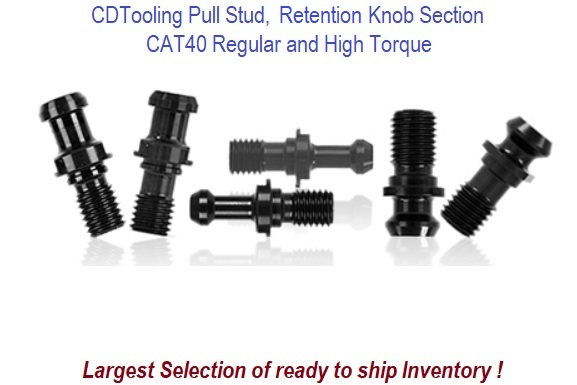 CAT40 Pull Stud, Retention Knob Section