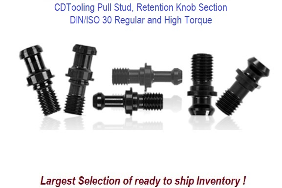 DIN/ISO 30 Pull Stud, Retention Knob Section