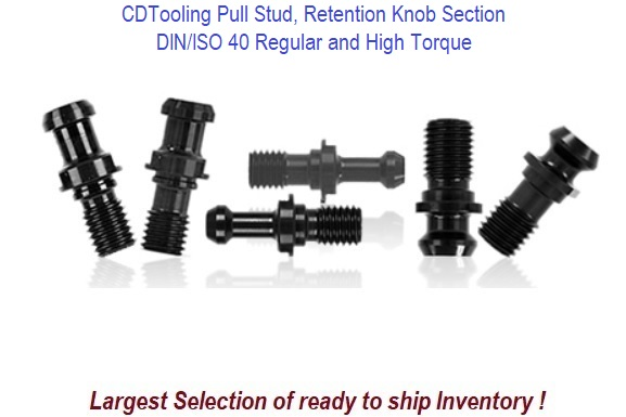 DIN/ISO 40 Pull Stud, Retention Knob Section