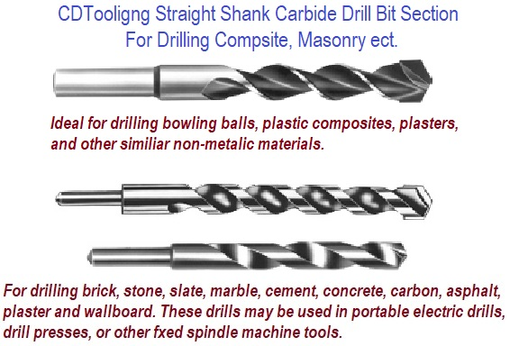 Carbide Tipped Masonry Straight Shank