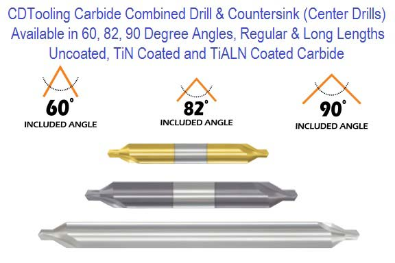 Combined Drill and Countersink Center Drill
