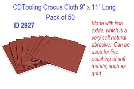 Crocus Cloth 9 Quot X 11 Quot Long Pack Of 50 Id 2927