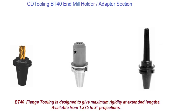 BT40 End Mill Holders / Adapters