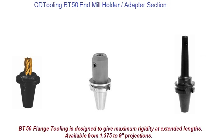 BT50 End Mill Holders / Adapters