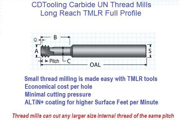 TMLR - UN Long reach thread mills