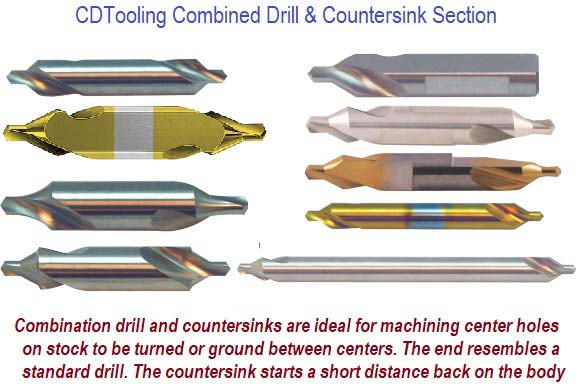 Combined Drill And Countersink Section