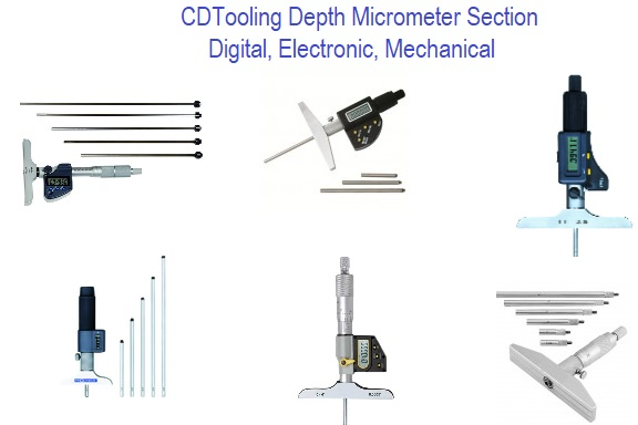 Depth Micrometer Digital, Electronic, Mechanical, Section