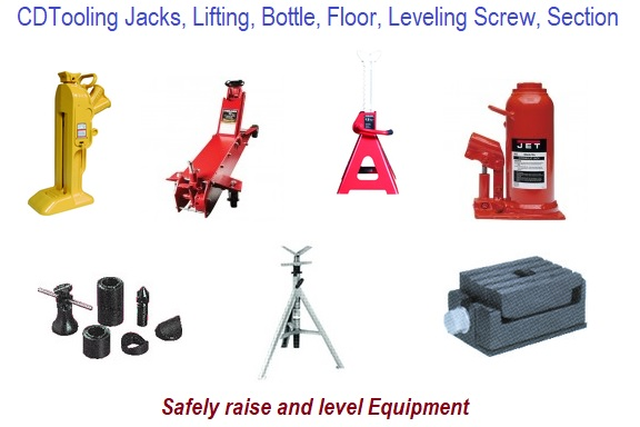 Jacks, Bottle, Floor, Screw. Lifting, Leveling Section
