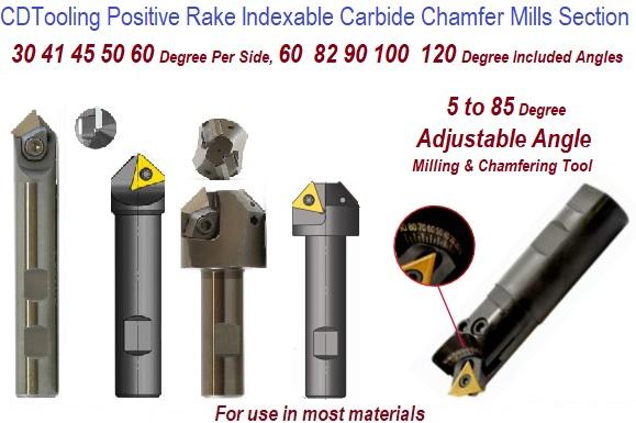 "30 degree angle chamfer deburr cutter 1/"" Square Carbide Inserts 1//4/"" thick 60"