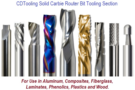 Solid Carbide Router Bit Section