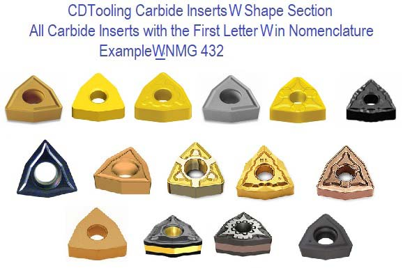 W Shape Trigon Carbide Inserts