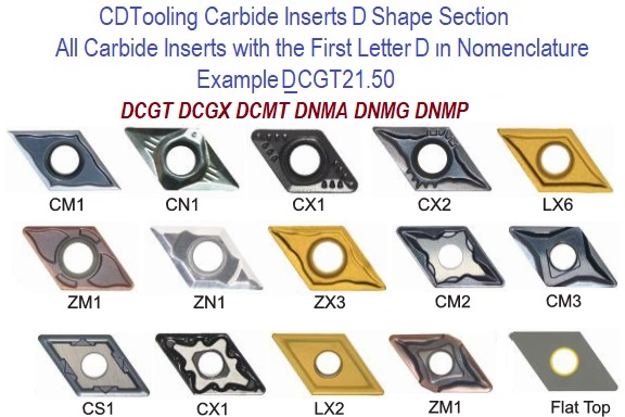 D Shape Carbide Inserts 55 Degree Diamond Shape
