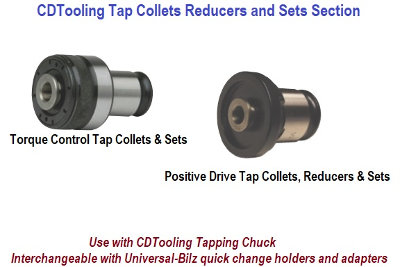 Tapping Collets Torque Control, Positive Drive