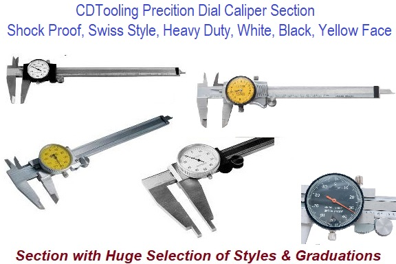 4,6,8,12,18,20,24 Inch 100,150,200,300 mm Metric Dial Caliper Section