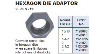Hex Round Die Holder