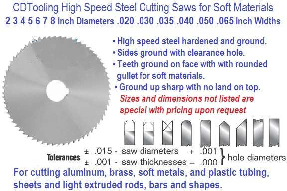 Cutting Saws HSS Precision Ground