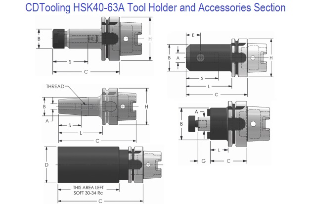 HSK 40-63A Holders