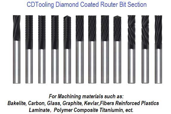 Diamond Coated Router Bit Section