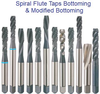 Spiral Flute Taps Bottoming, Plug, Modified