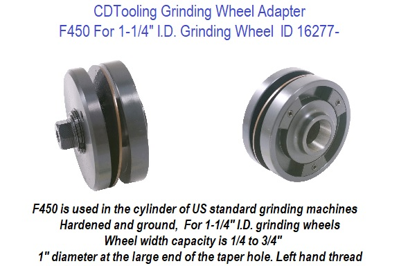 F450 GRINDING WHEEL ADAPTER 2420-0352