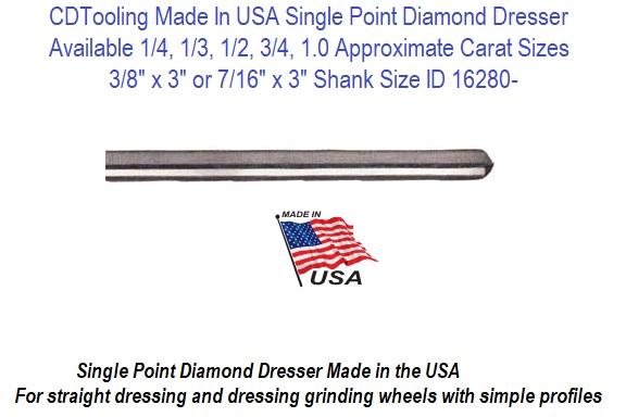 3//8 1 Carat HHIP 3900-0079 Single Point Diamond Dresser