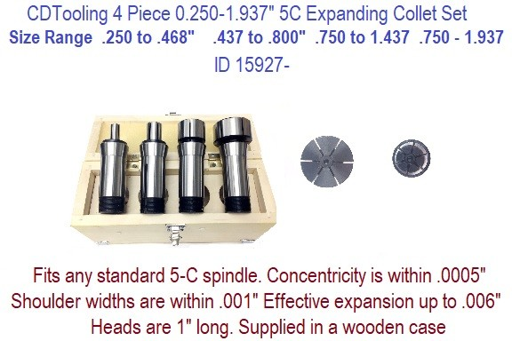 """4/"""" INCH 5C CLUTCH COLLET NEW ONE PIECE CONSTRUCTION"""