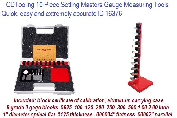 10 Piece Setting Masters Gauge Measuring Tools  Quick, easy and extremely accurate ID 16376-