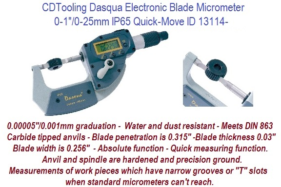 """2-3/"""" Electronic Blade Micrometer NEW"""