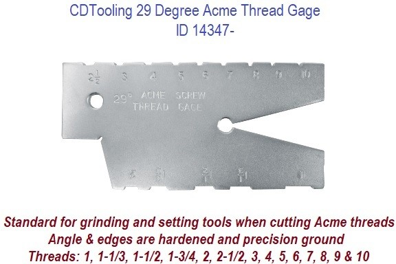 29 Degree Acme Thread Gage ID 14347-