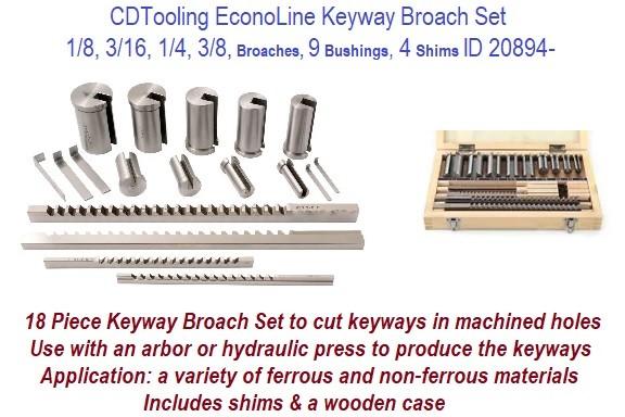 Keyway Broach Hex W 5//16 In Cut L 1 In