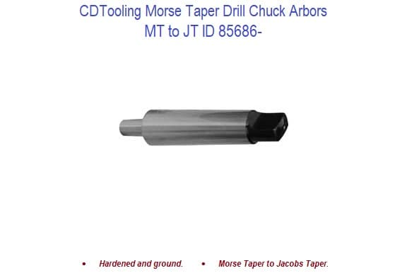 MT4 to JT6 Tang END Drill Chuck Arbor 3700-0158